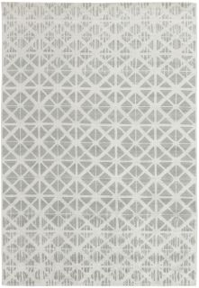 blue, beige and grey abstract rug
