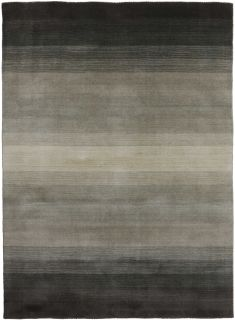 Large grey and beige ombre rug