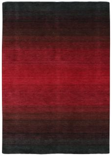 Large black and red ombre rug
