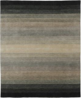 Large black and grey ombre rug