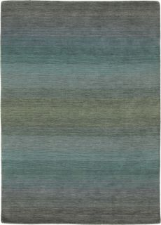 Large beige and blue ombre rug