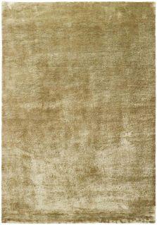 Plain beige wool and viscose area rug
