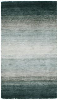 Large grey and teal green ombre rug
