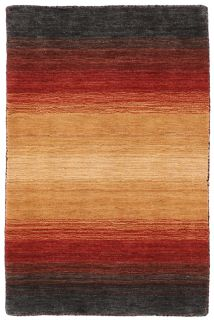 Large red and black ombre rug