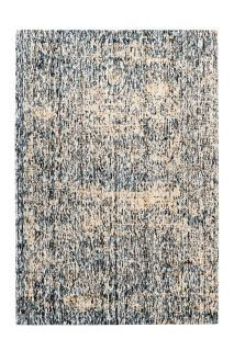 abstract blue and beige area rug