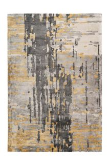 abstract grey and gold area rug