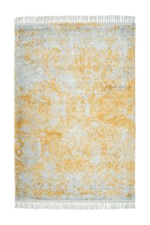 vintage style rug in grey, gold and cream