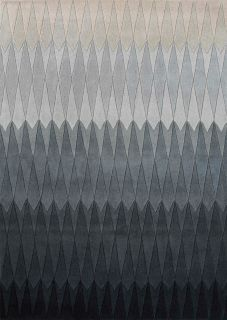 geometric rug with ombre grey design