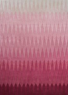 geometric rug with ombre pink design