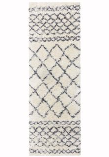 cream and grey moroccan style runner