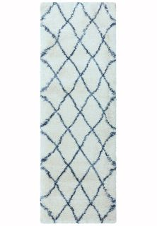 cream and blue moroccan style runner