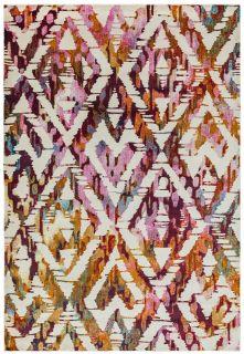 multicolour geometric style rug