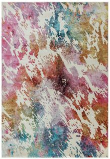 abstract watercolour inspired rug