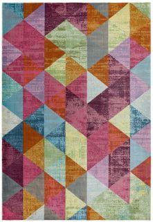 geometric multicoloured rug