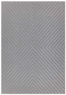 grey indoor/outdoor rug with trellis design