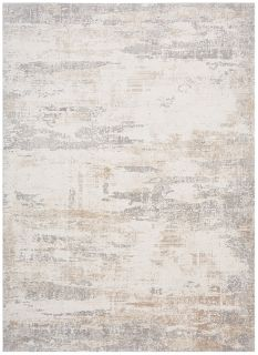 grey and white abstract rug