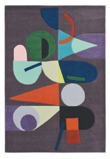 brink and campman wool rug with a multicolour abstract pattern