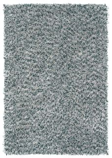 charcoal grey brink and campman shagpile wool rug