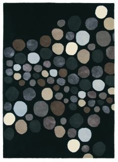 black brink and campman wool rug with a multicolour abstract pattern