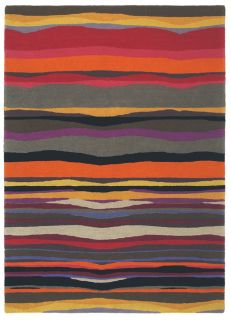 brink and campman wool rug with a multicolour abstract stripe pattern
