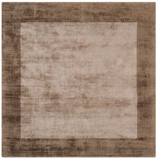 plain beige rug with border
