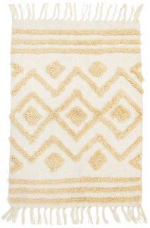 moroccan style geometric rug in cream