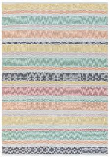 multicolour indoor/outdoor rug with stripe pattern