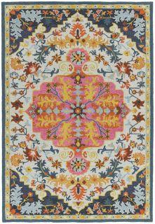 multicolour vintage style rug