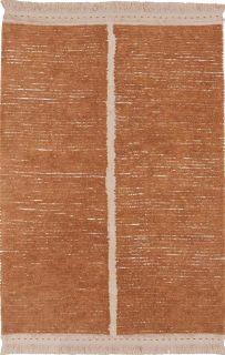reversible textured rug in beige and brown