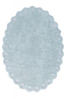 oval blue rug