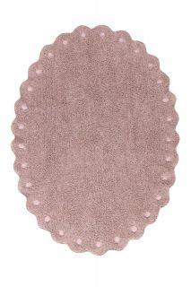 oval nude rug