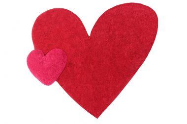 heart shaped rug with heart shaped cushion