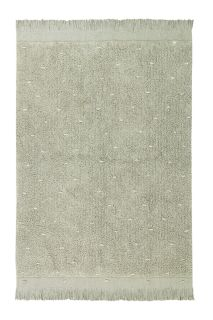 textured olive green rug