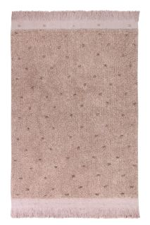 textured nude pink rug