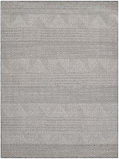grey area rug with aztec design