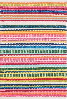 multicolour stripe indoor/outdoor runner