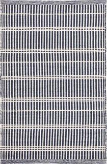 navy stripe indoor/outdoor rug