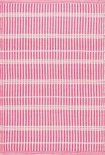pink stripe indoor/outdoor rug