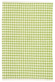 Checks Green Woven Cotton Runner 76x244cms