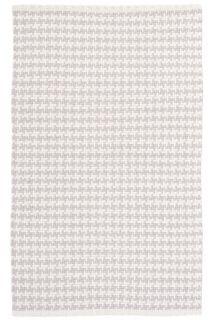 Checks Pearl Grey Woven Cotton Runner 76x244cms