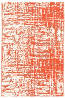 Drybrush Orange Woven Cotton Rug