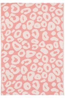 Spot Coral Woven Cotton Rug