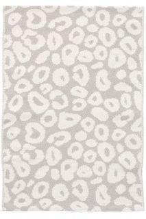 Spot Pearl Grey Woven Cotton Rug