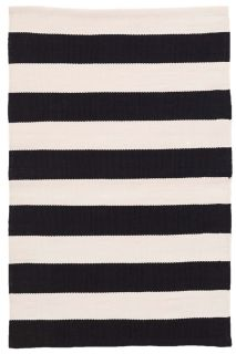 black and white stripe indoor/outdoor rug