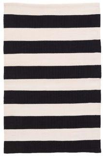 Catamaran Stripe Black/Ivory Indoor/Outdoor Runner 76x244cm