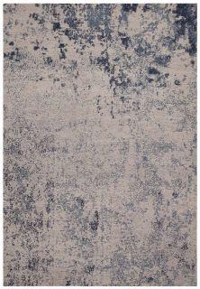 abstract indoor/outdoor rug in blue