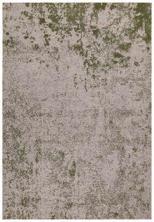 abstract indoor/outdoor rug in green