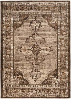 persian inspired area rug in brown