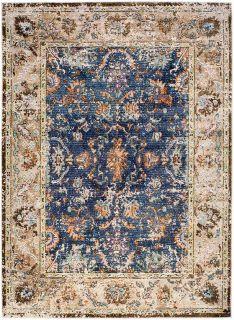 persian inspired area rug in multicolour