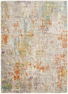 abstract area rug in multicolour